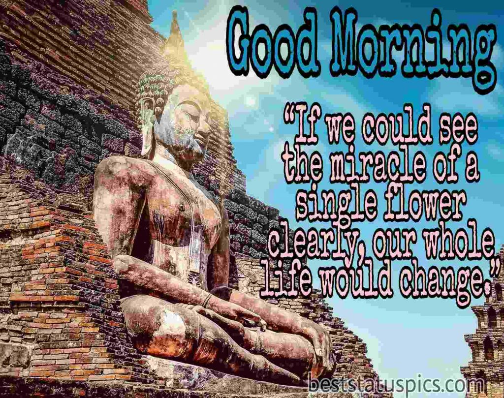 good morning with buddha quotes image