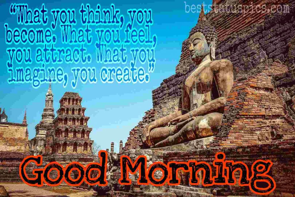 buddha quotes good morning image