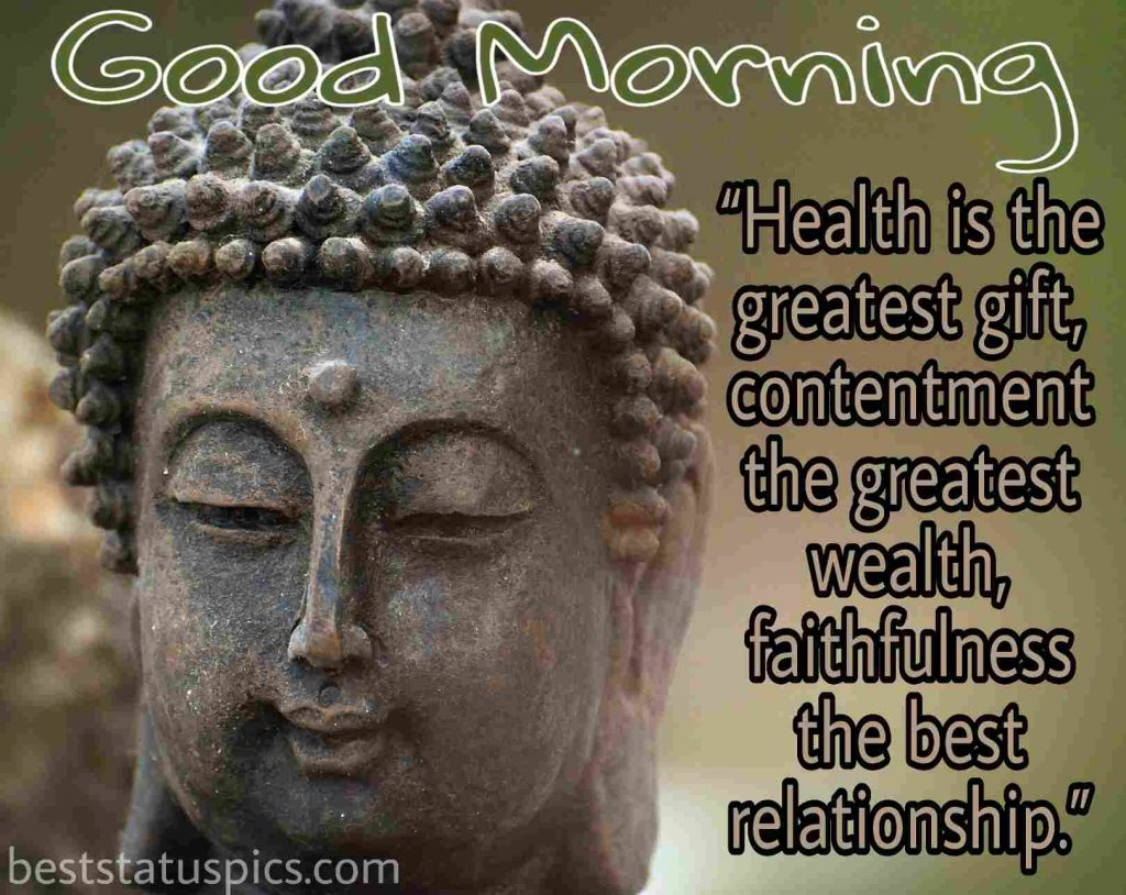 buddha quotes each morning wishes image