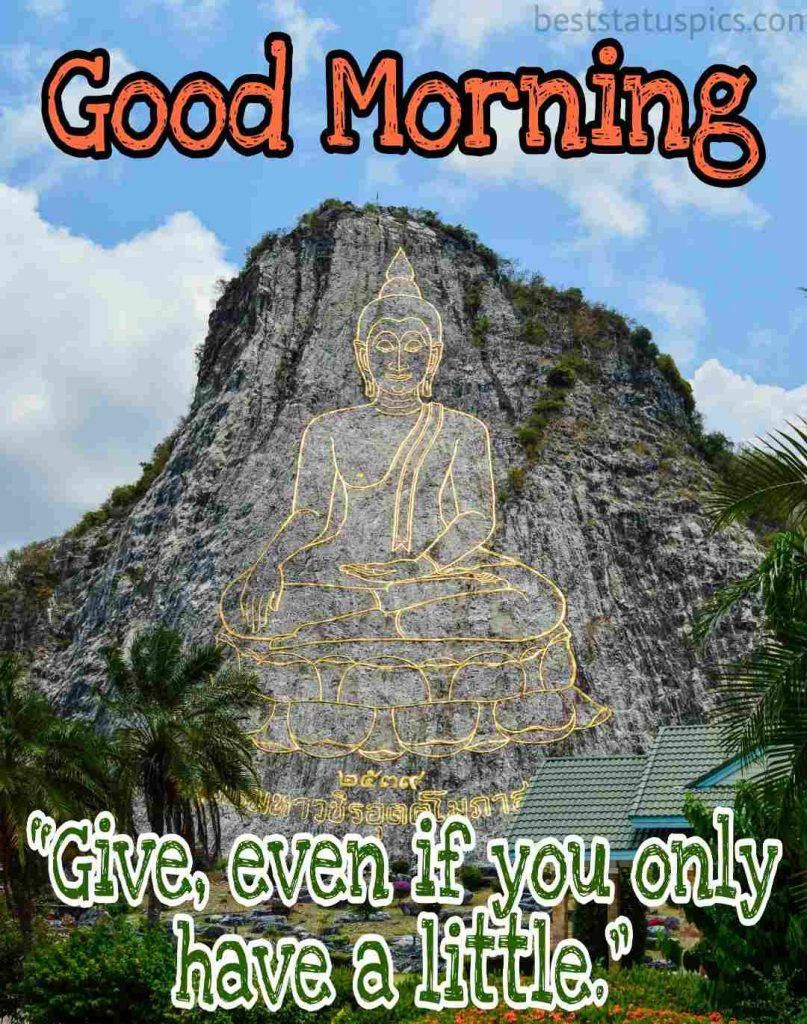lord buddha good morning quotes image