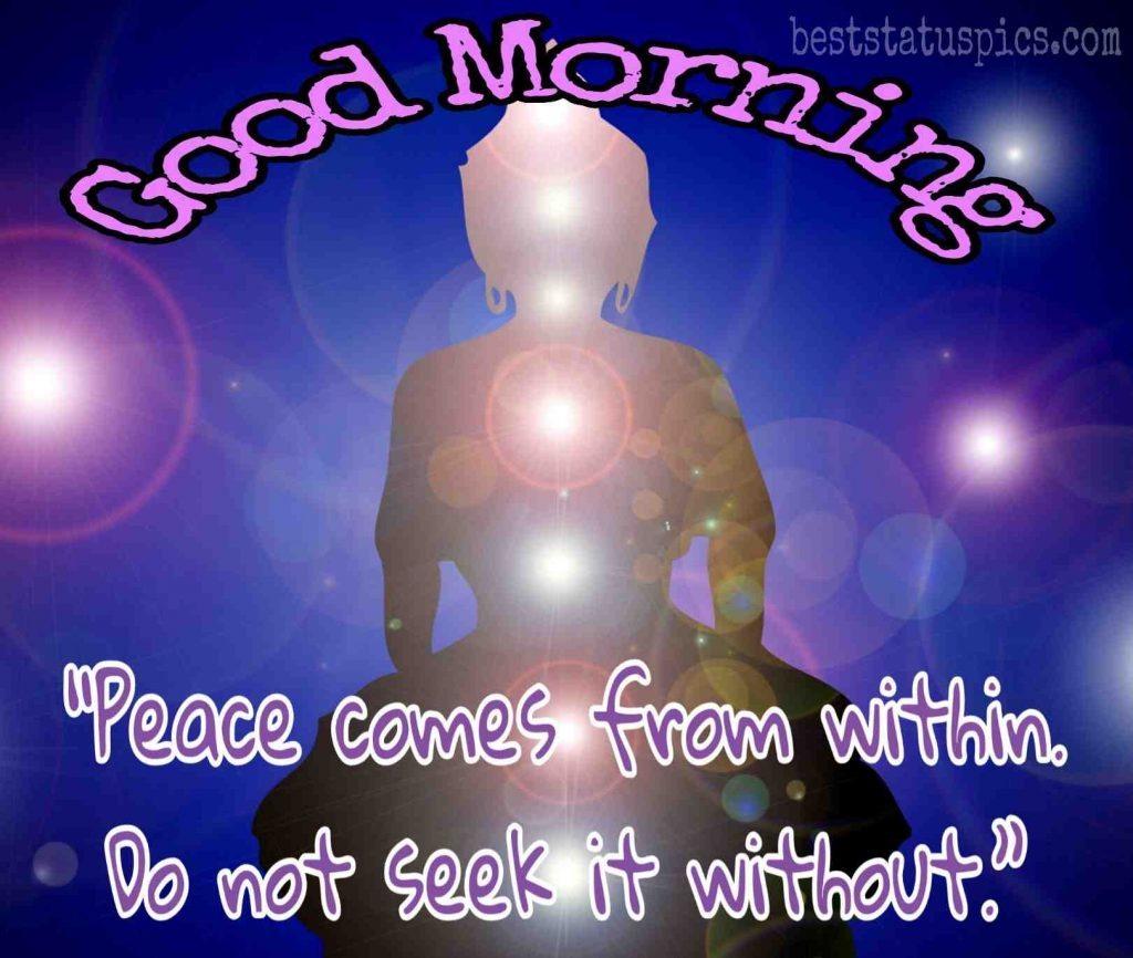 positive buddha morning quotes image