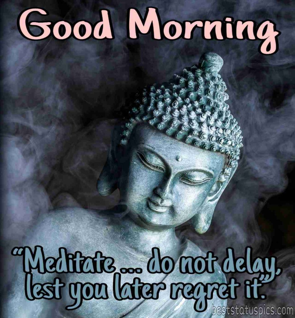 buddha quotes on good morning image