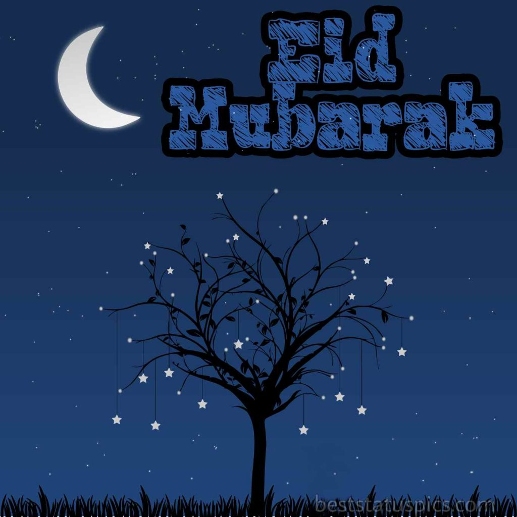 eid mubarak and moon images 2020 HD