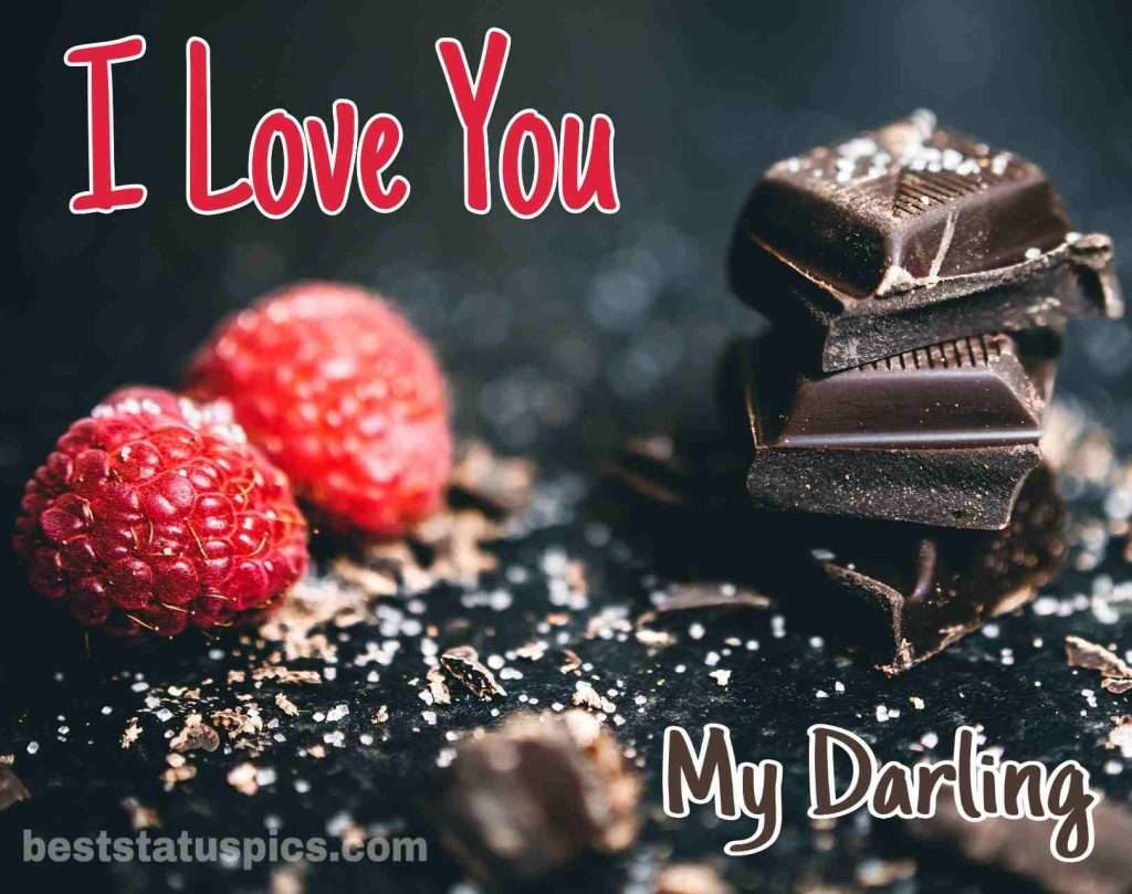 i love you darling dp image