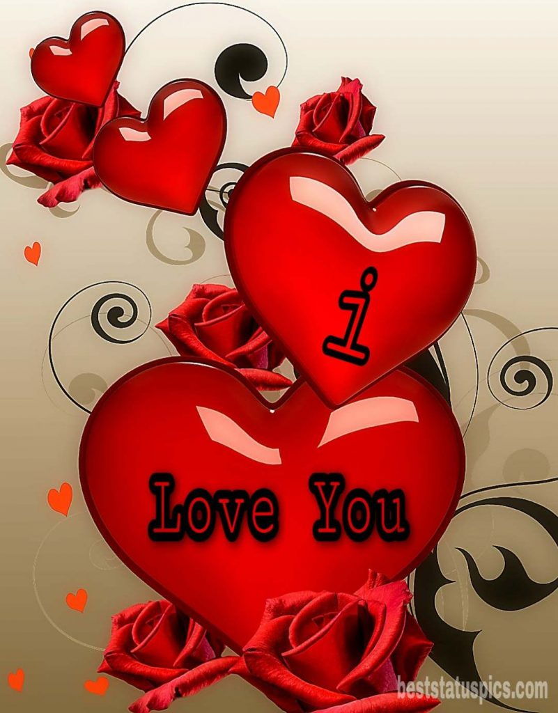 i love you with heart dp for whatsapp