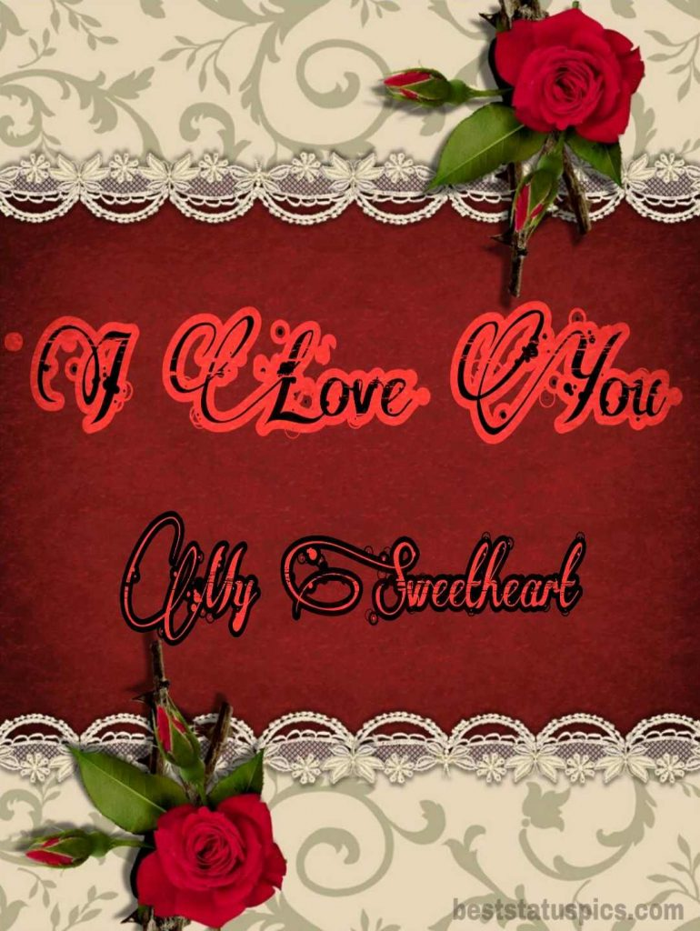 i love you dp sweetheart for whatsapp