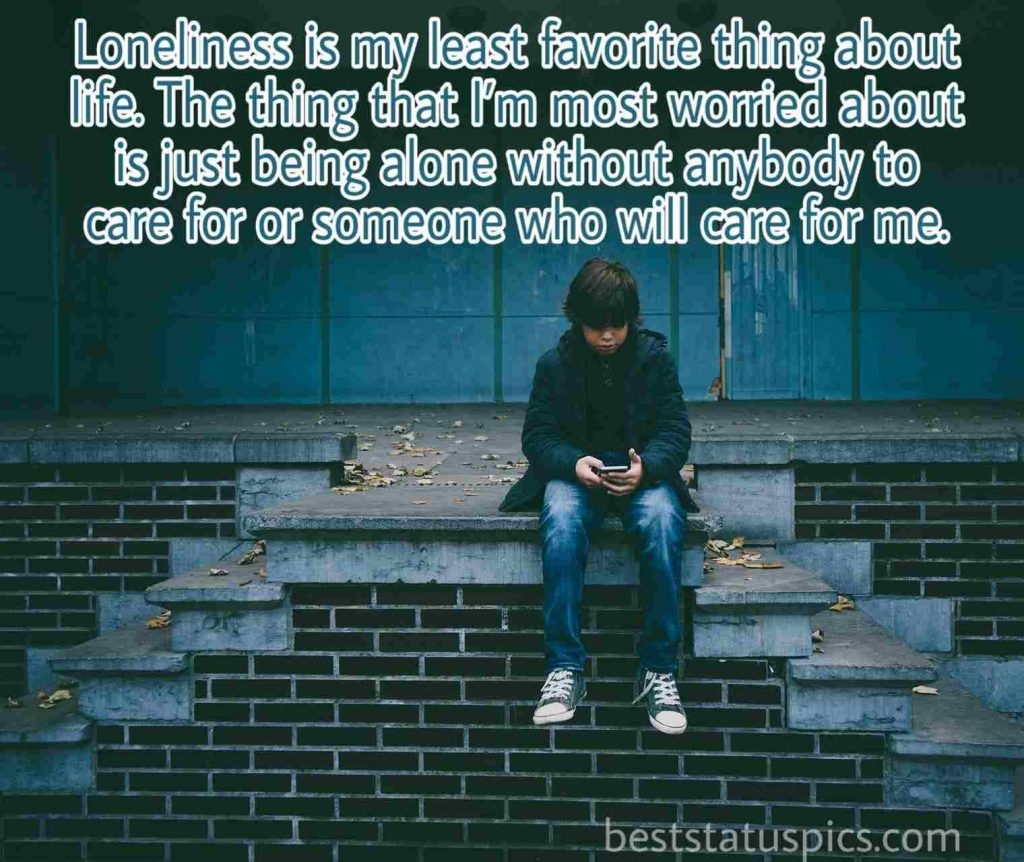 Sad loneliness quote for boys with Images HD