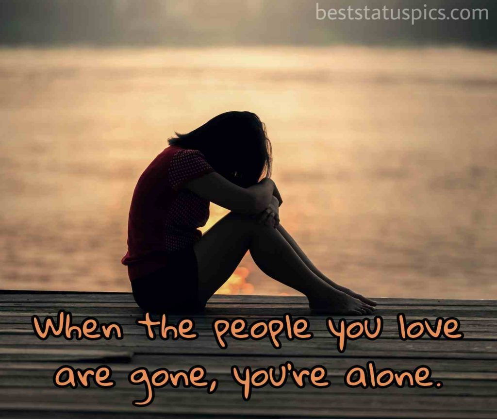alone whatsapp dp hd quotes for girls