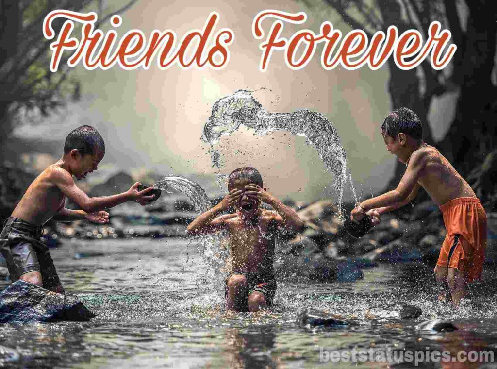 friends forever whatsapp dp images HD with little boys