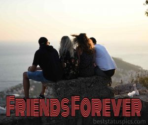 friends forever quotes with 4 friends group dp dp