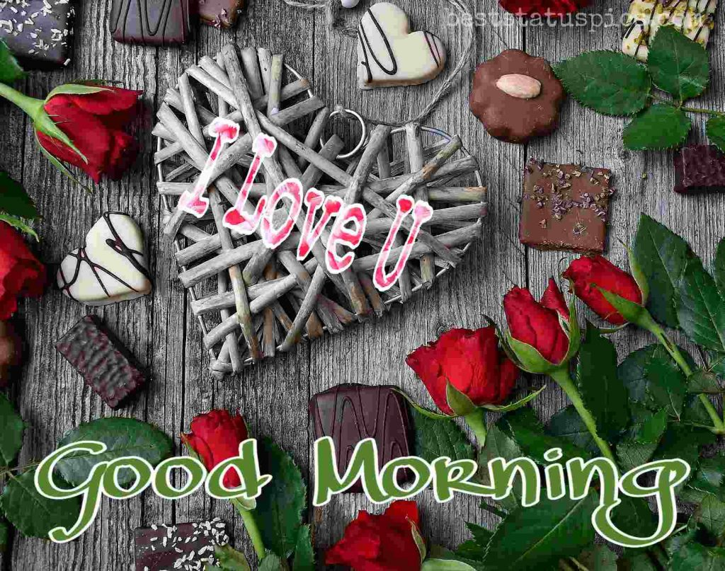 best good morning i love you wishes with roses for girlfriend