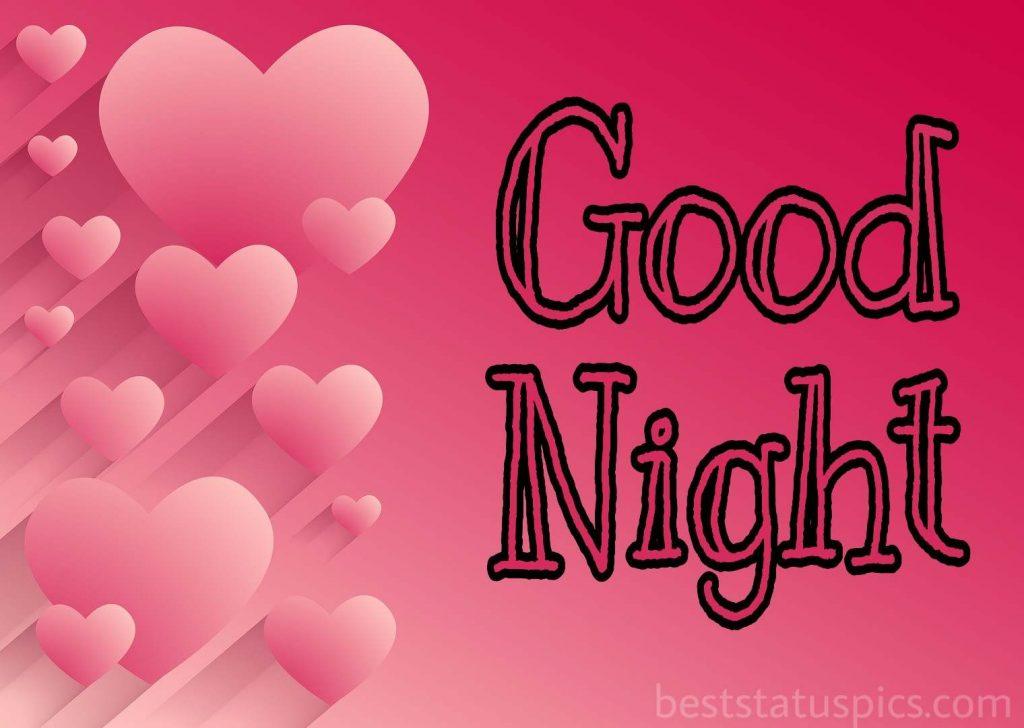 Cute good night heart image
