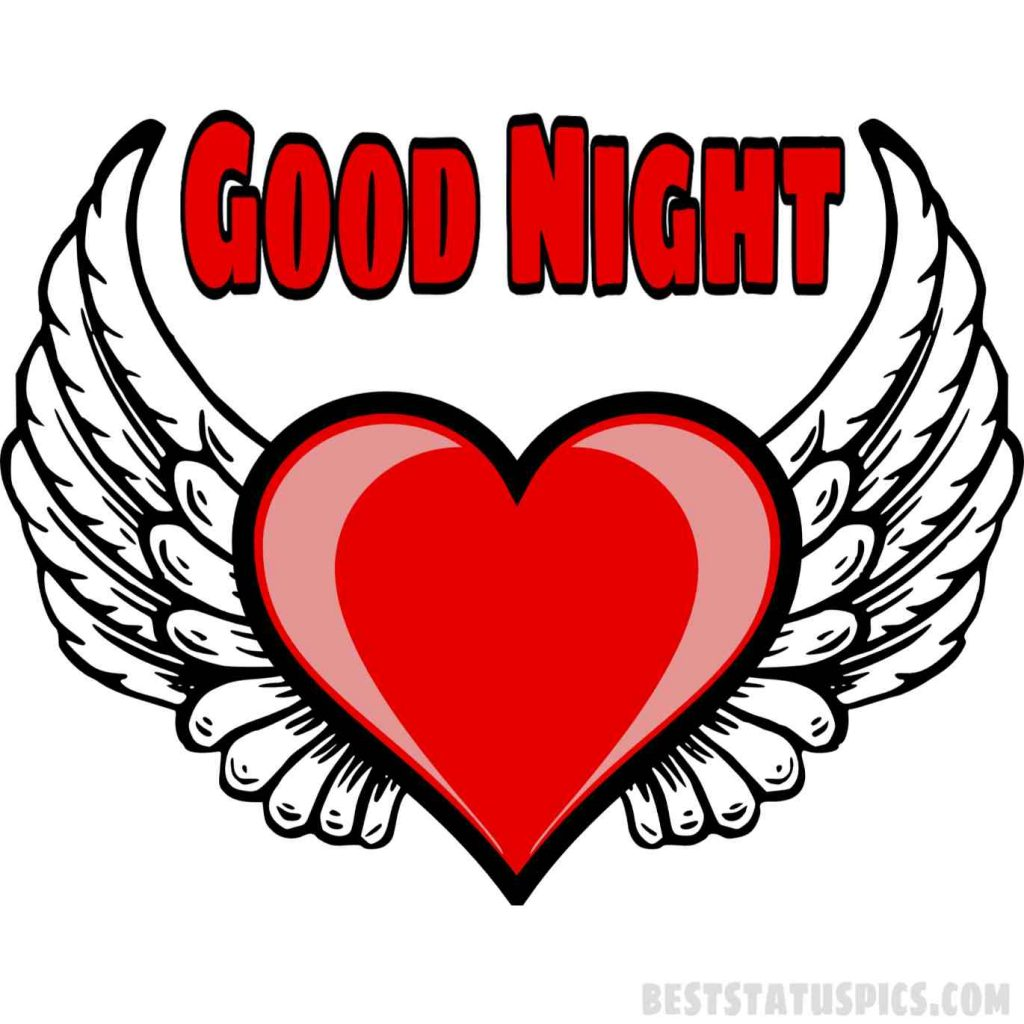 good night heart shape images