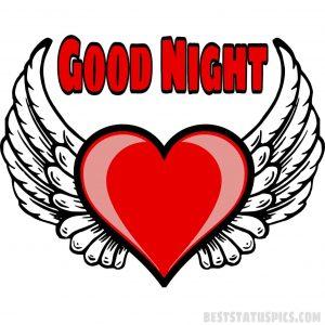 good night heart shape images