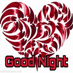 good night heart image hd