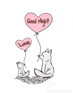 good night heart touching image
