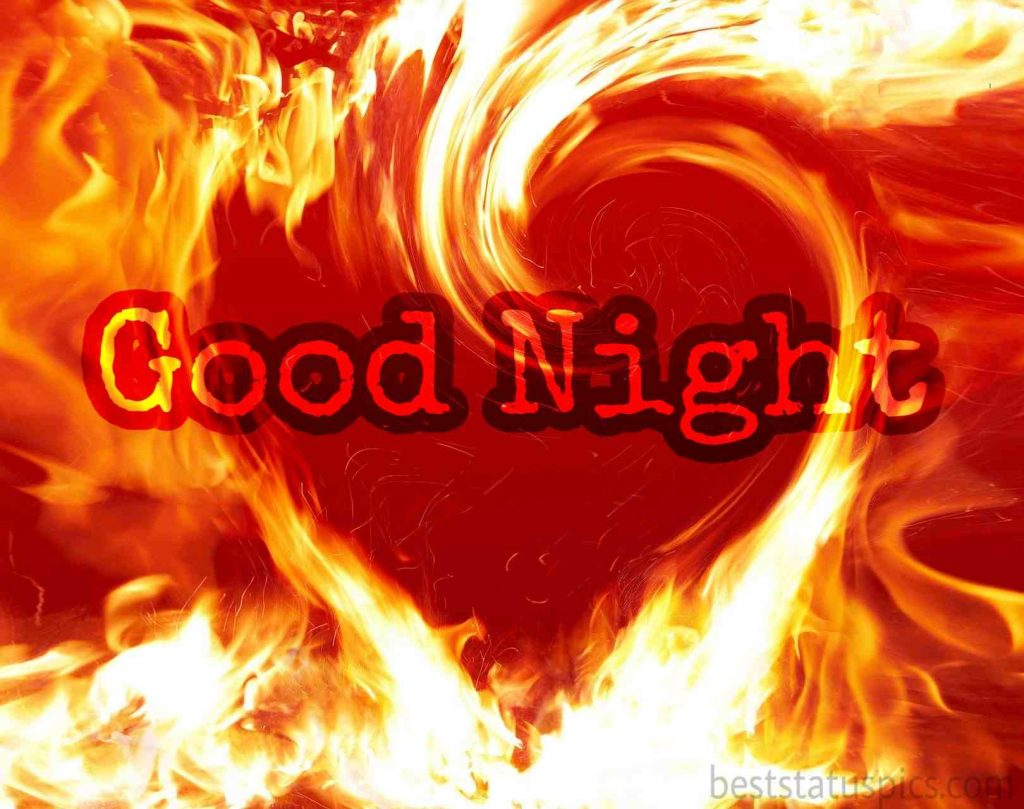 good night image in heart shape