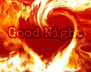 good night image in heart shape