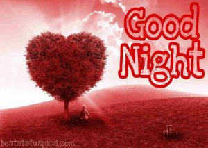 good night images with heart HD