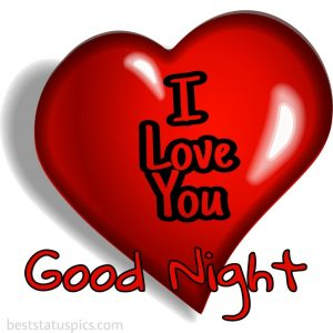 good night heart with i love you pic