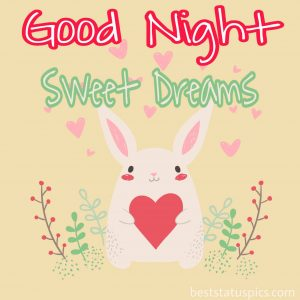 good night with heart image