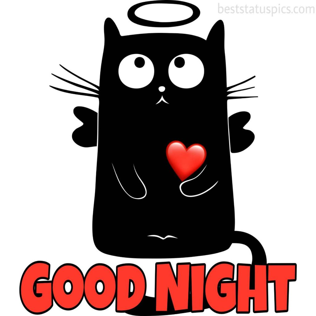 good night heart touching pic
