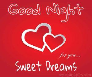 good night love heart image hd