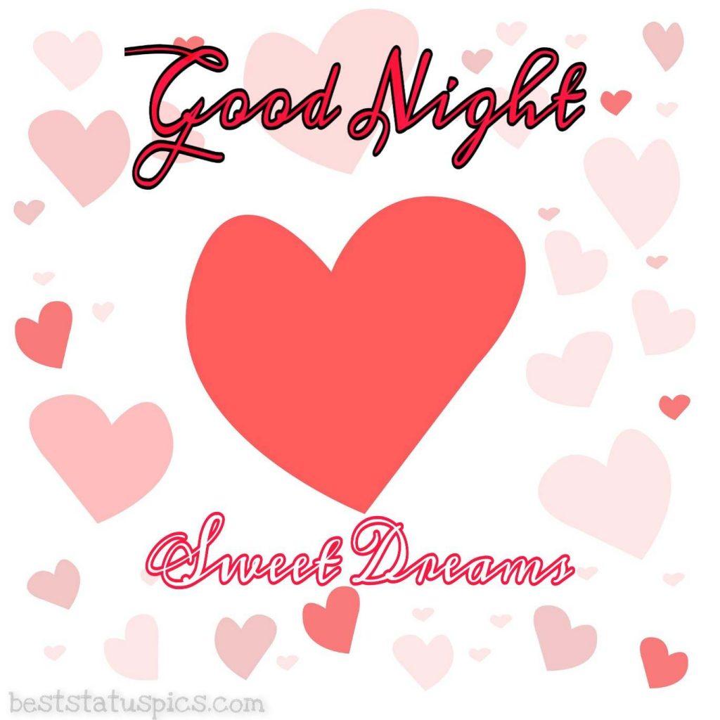 good night love heart pic