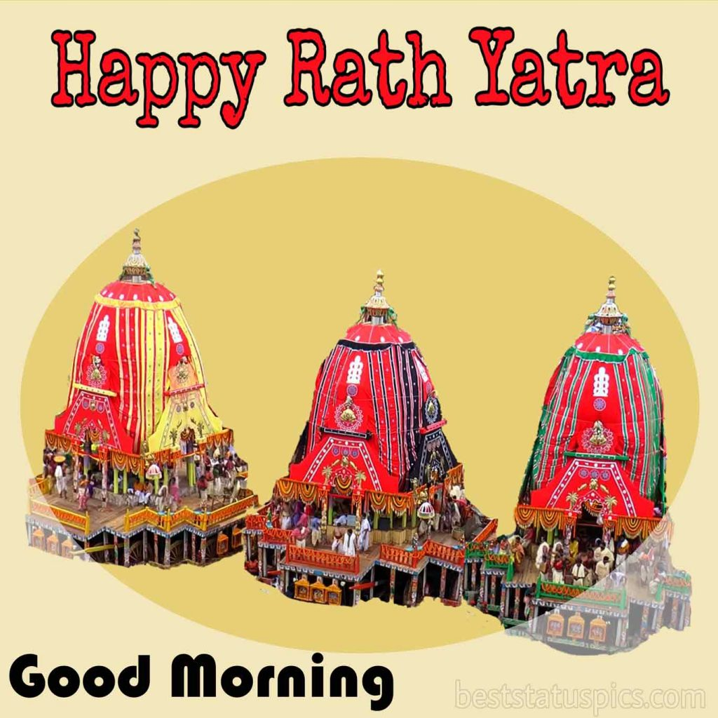 happy rath yatra good morning 2020 photo for Whatsapp DP