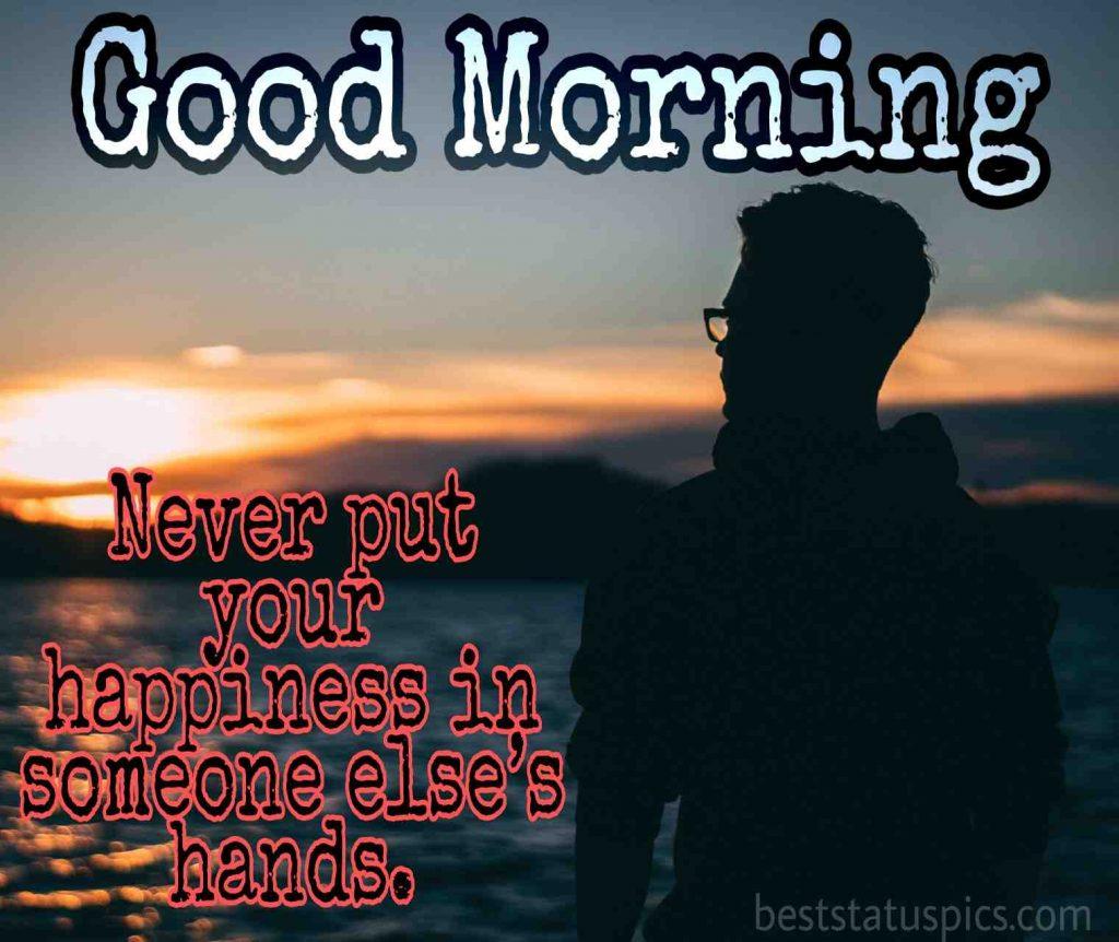 good morning sunrise pic with a sad alone boy