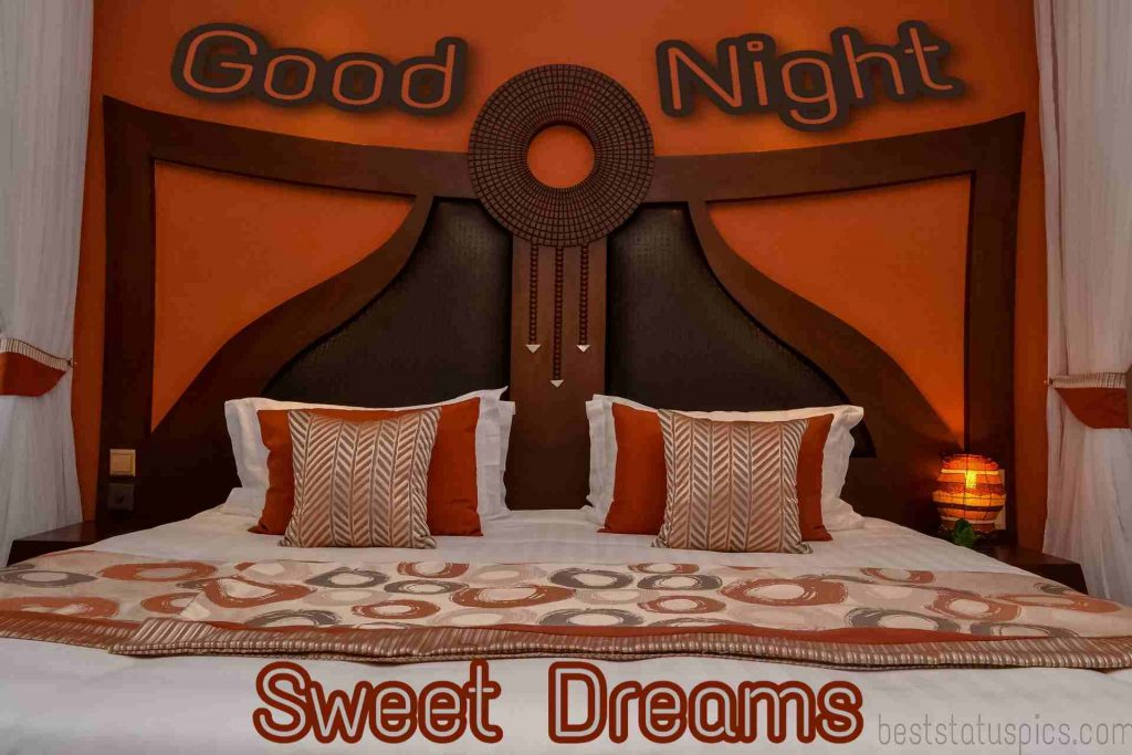 good night on bed images