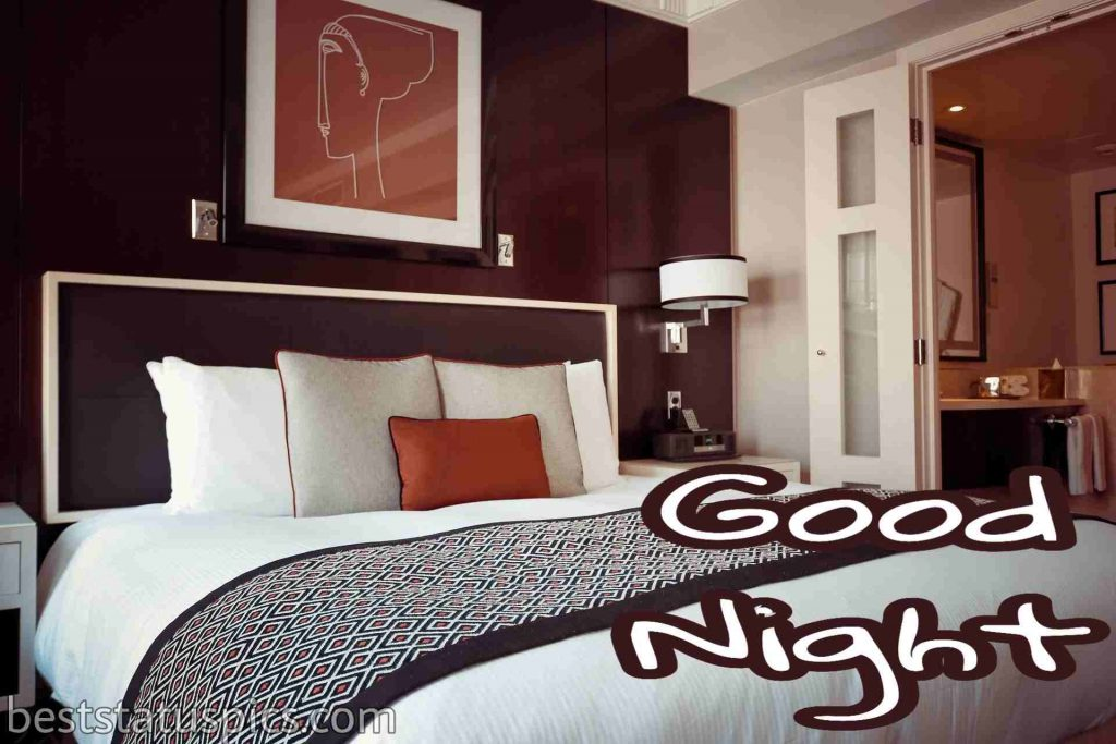 good night images with beautiful bed