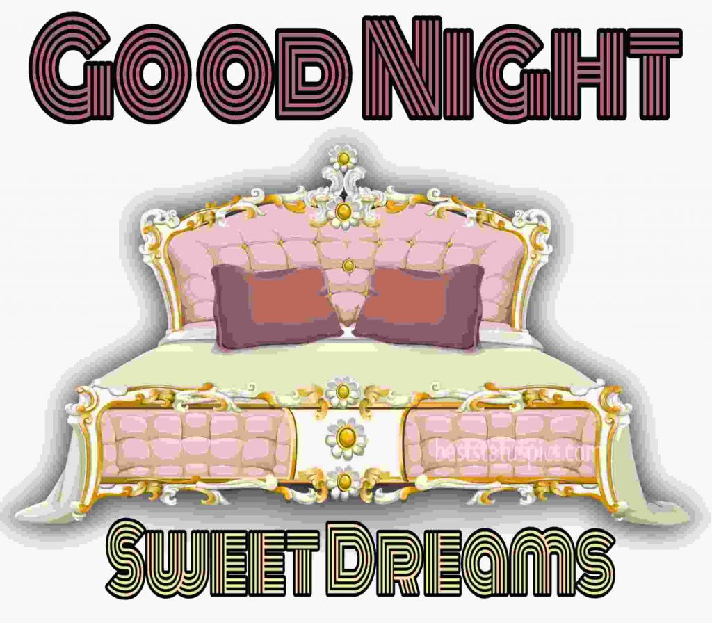good night sleeping bed images