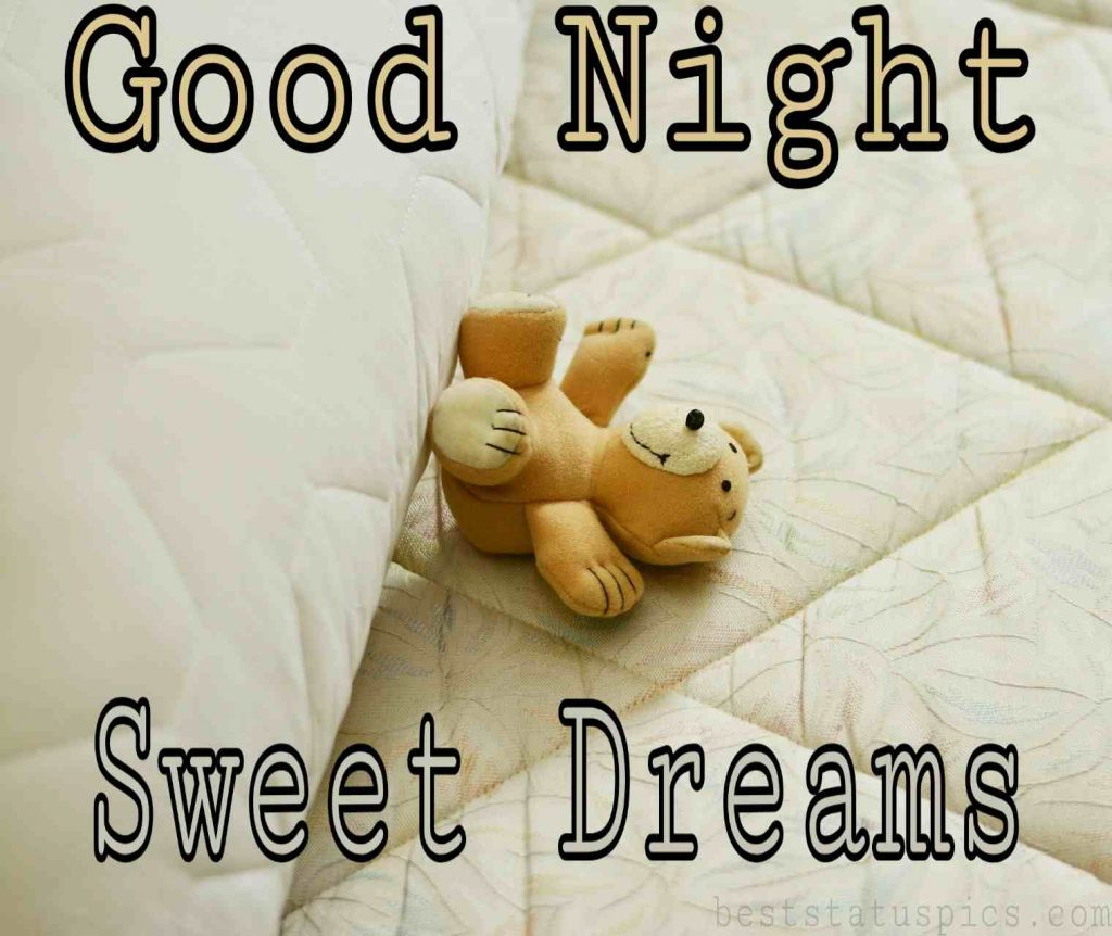 good night bed with teddy image