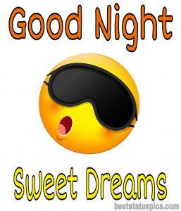 good night cartoon emoji image