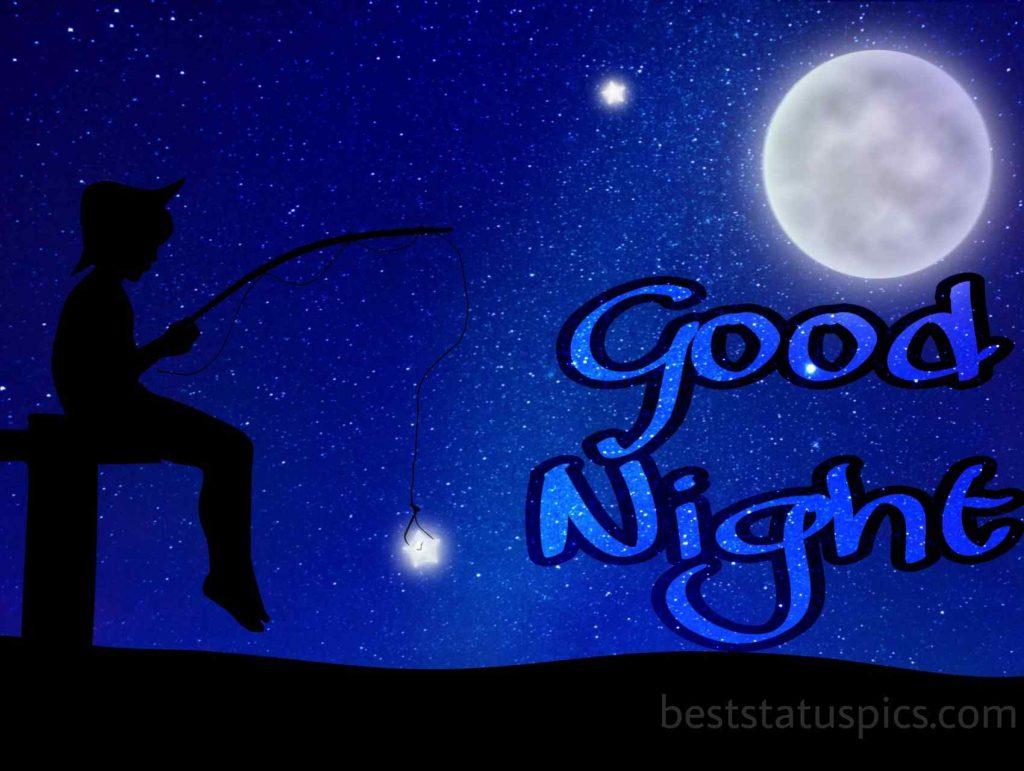 good night images of cartoon moon