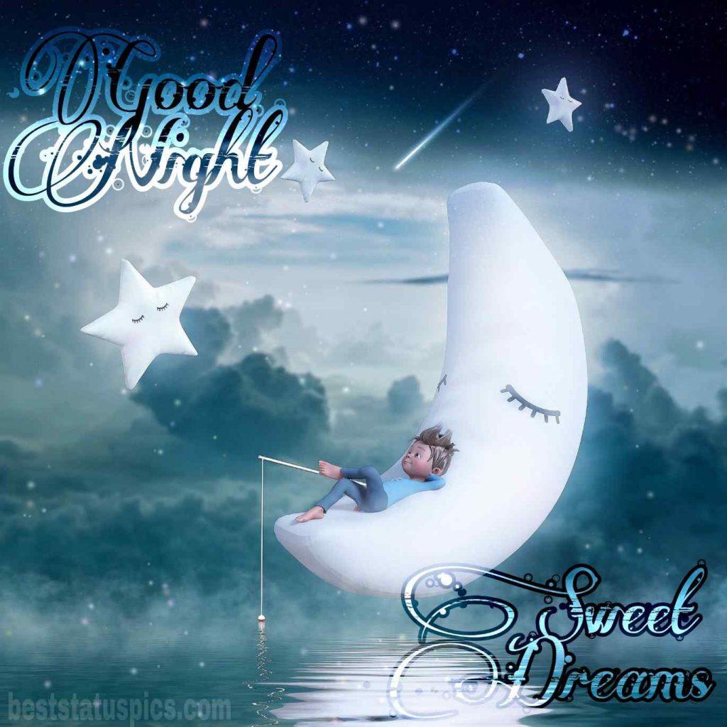 good night baby cartoon