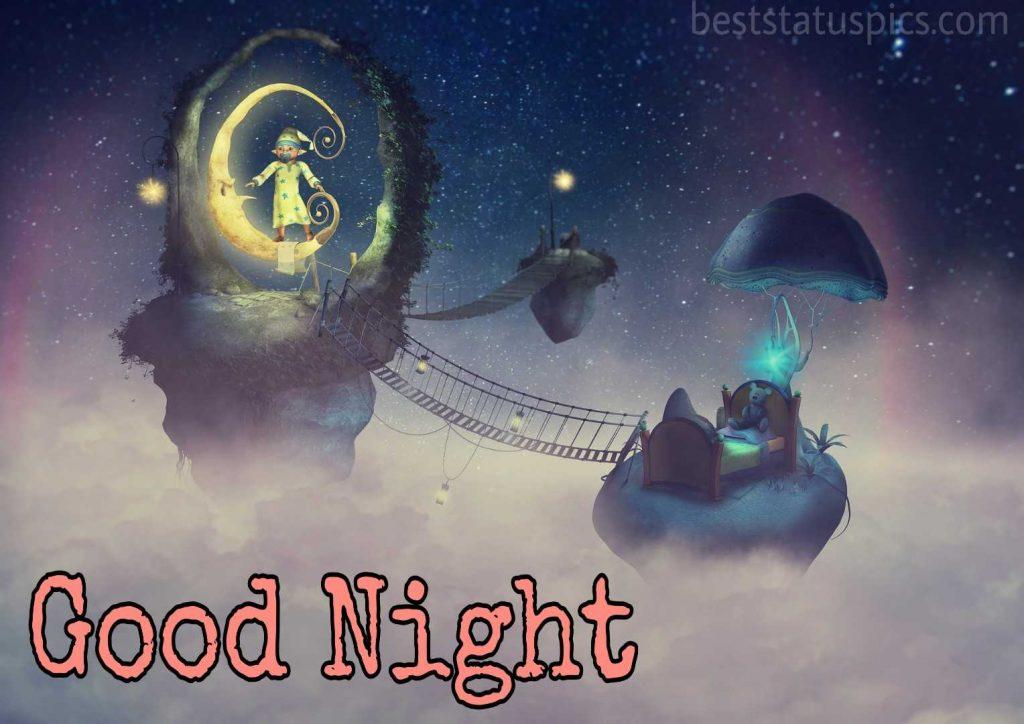 good night love cartoon images