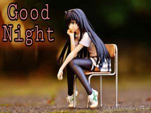 good night girl anime photo