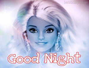 good night image with beautiful doll