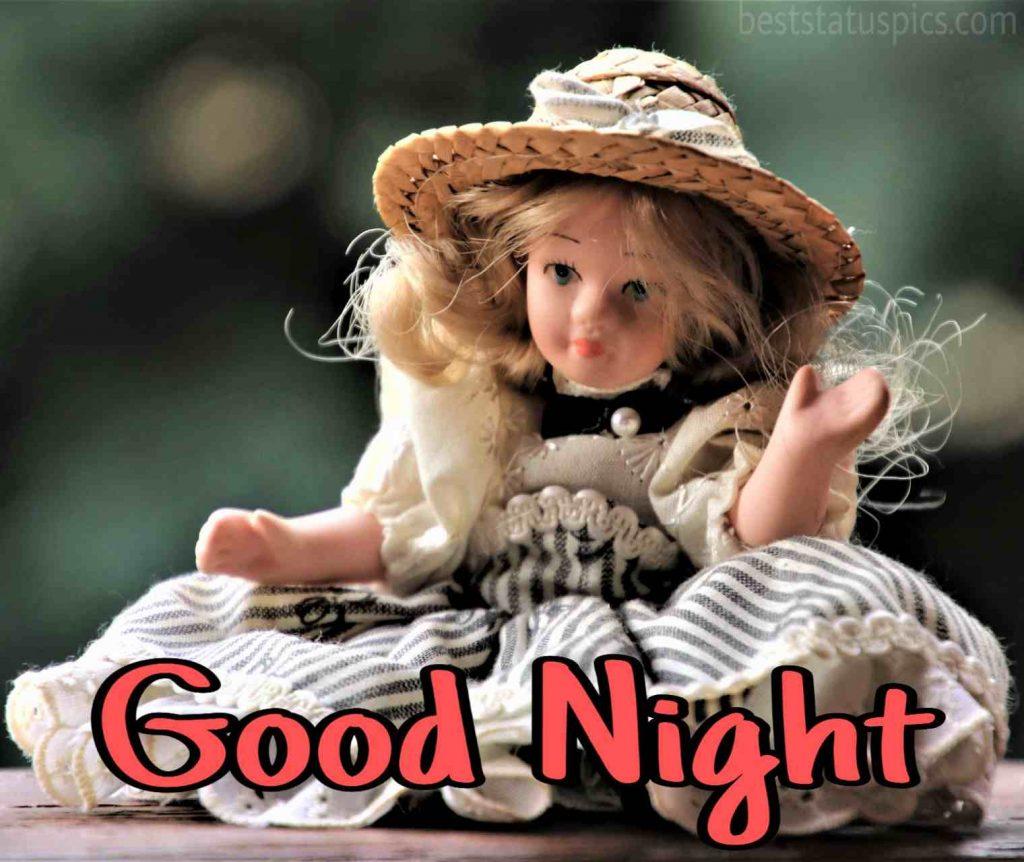 good night doll image HD