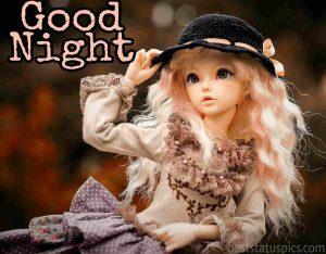 cute doll good night image