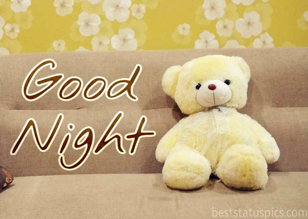 good night images hd with teddy bear