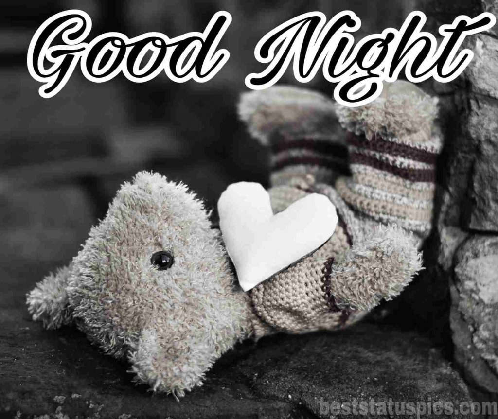 good night teddy bear pic with love