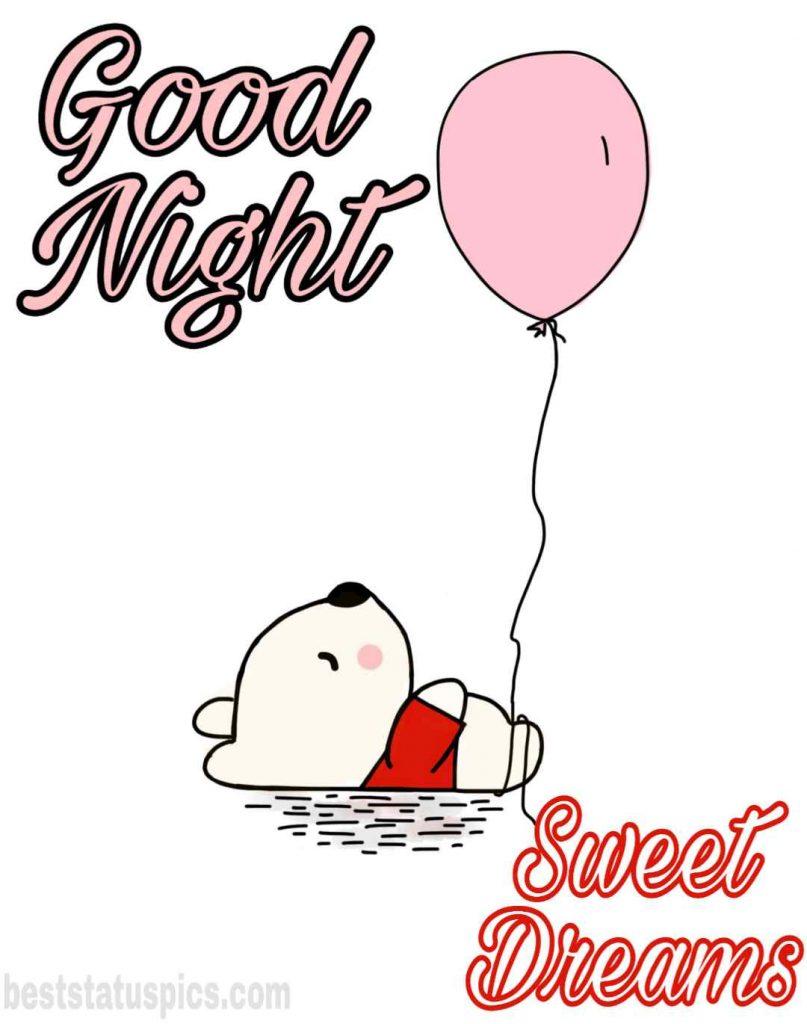 good night teddy bear love photo