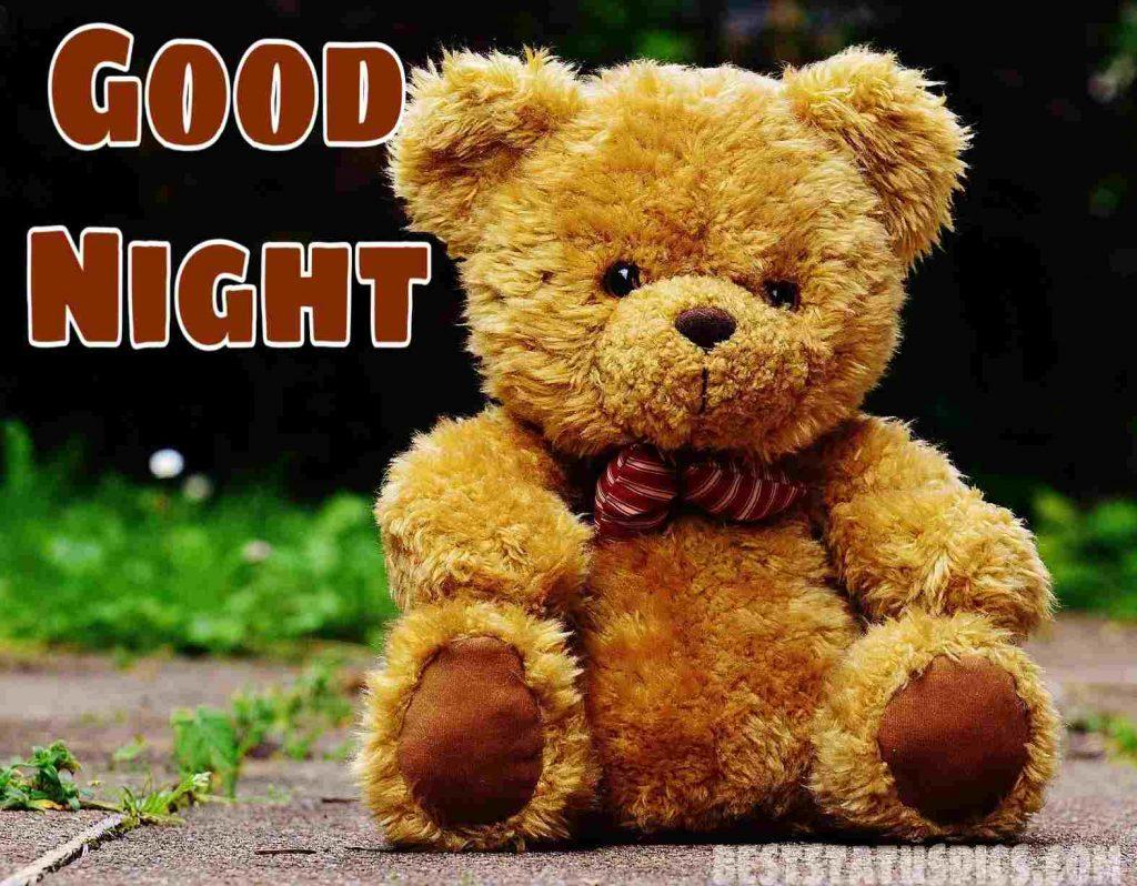 good night cute teddy bear