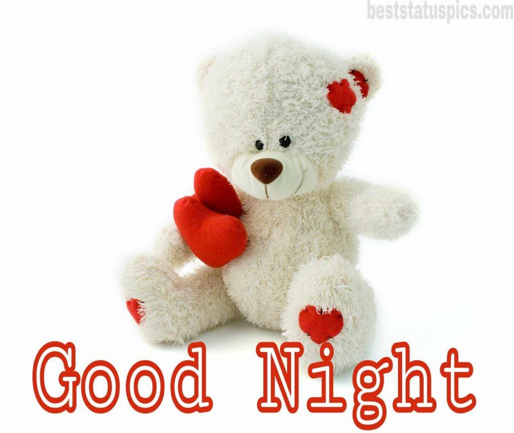 good night teddy bear image