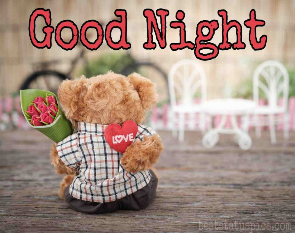 good night images of teddy bear with love