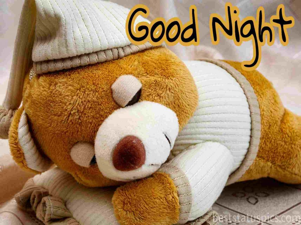 beautiful teddy bear good night images