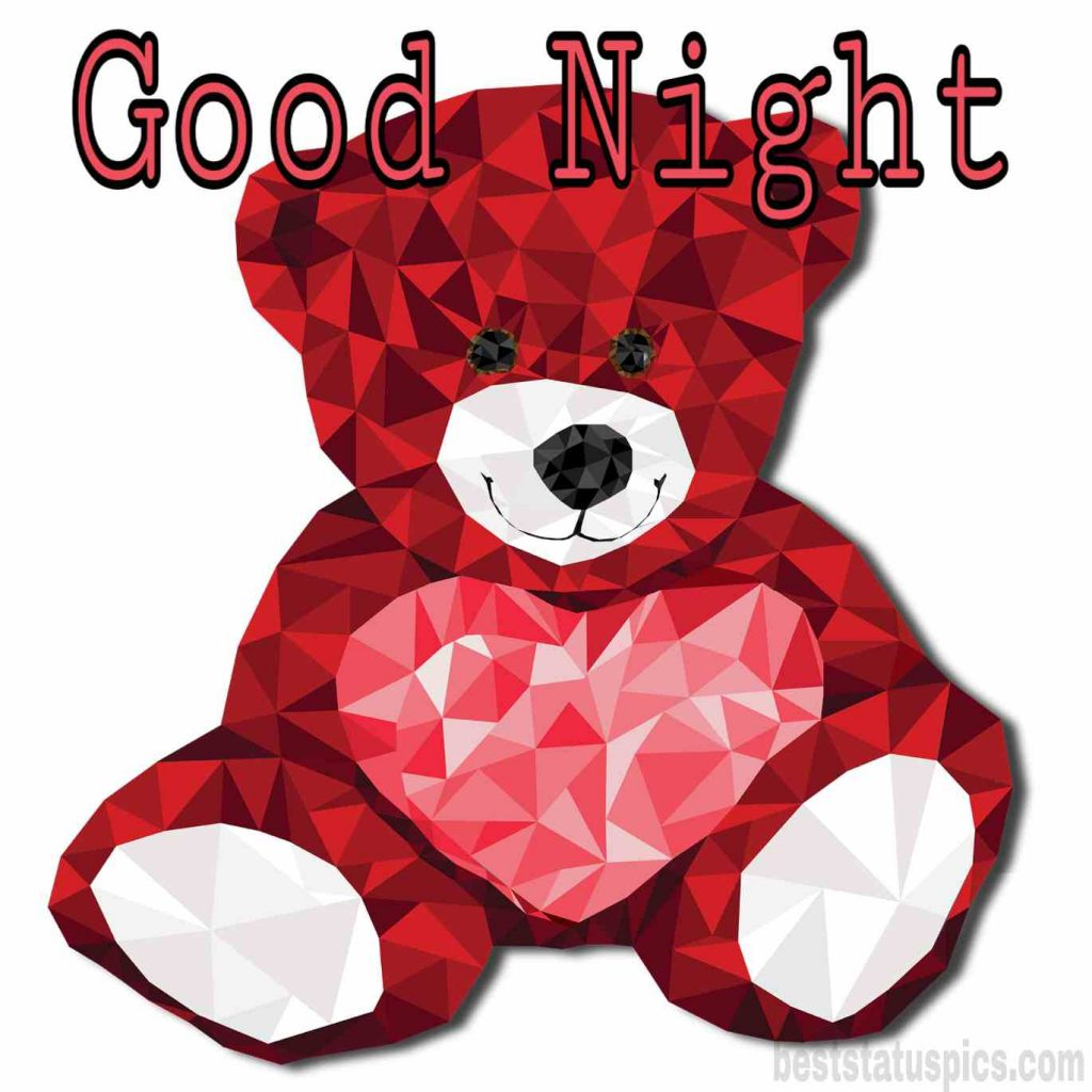 good night wishes with teddy love